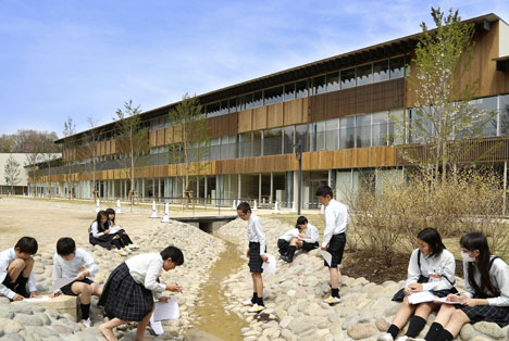 Teikyo University Elementary School by Kengo Kuma and Associates